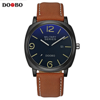 2017 DOOBO Brand Casual Men S Watches Leather Waterproof Joker Fashion Style Quartz Watch Men Sport