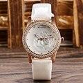 Nova Moda de Cristal Mulheres Relógio de Pulso de Quartzo-relógio 2016 Designer 4 Estilos Flores Originais relógio de Pulso Relógio Feminino Relógios