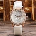 Nuevo Cristal de La Manera de Las Mujeres de Cuarzo reloj 2016 Diseñador de 4 Estilos de Reloj de Flores Único Reloj de pulsera de Reloj Relojes Mujer