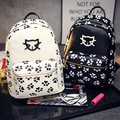 YOUYOU MOUSE Fashion Korean Lovely Women Casual Backpacks Printing Cat Footprints Backpacks High Quality Ladies School Backpacks