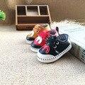 Kids Shoes девушки Парни ПУ Кожа Зашнуровать Высокие Дети Кроссовки девочка Shoes Спорт Осень Зима Детей Shoes 2