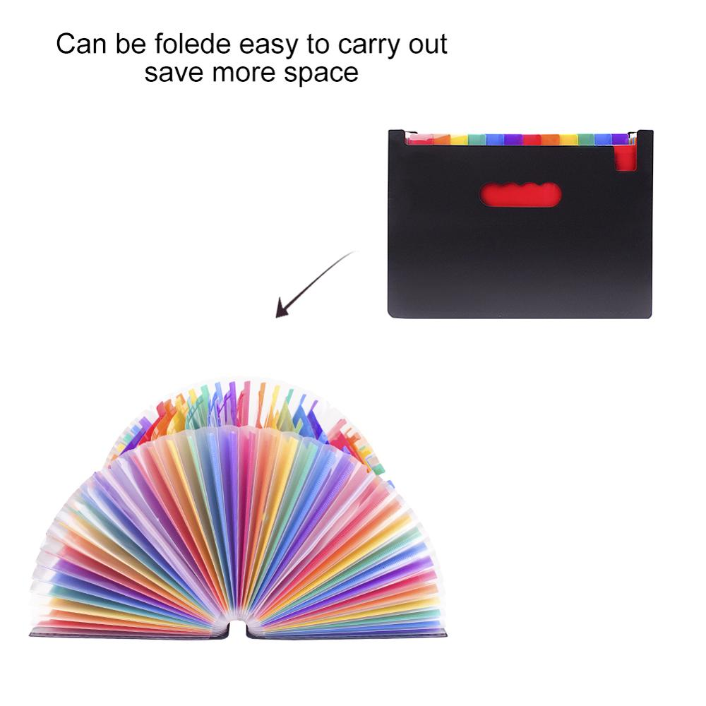 37 Pocket Expanding File Folder A4 Large Plastic Expandable File Organizers Standing Accordions Folder for Documents Business 3
