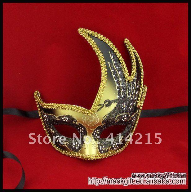 Маскарадная маска, черный и золотой Лебедь Хэллоуин Вечерние Маски