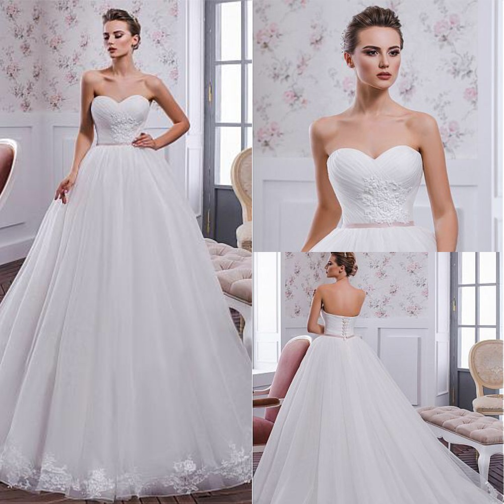 Wedding Ball Gowns Sweetheart Neckline: Modest Tulle Sweetheart Neckline Ball Gown Wedding Dress