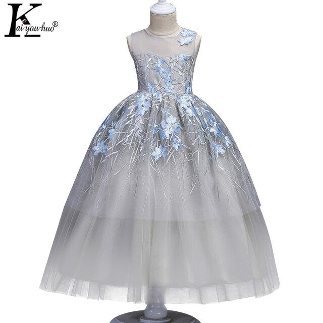 New Girls Christmas Dress Beautiful Teenager Princess Wedding Halloween Costumes For Kids Party Dresses