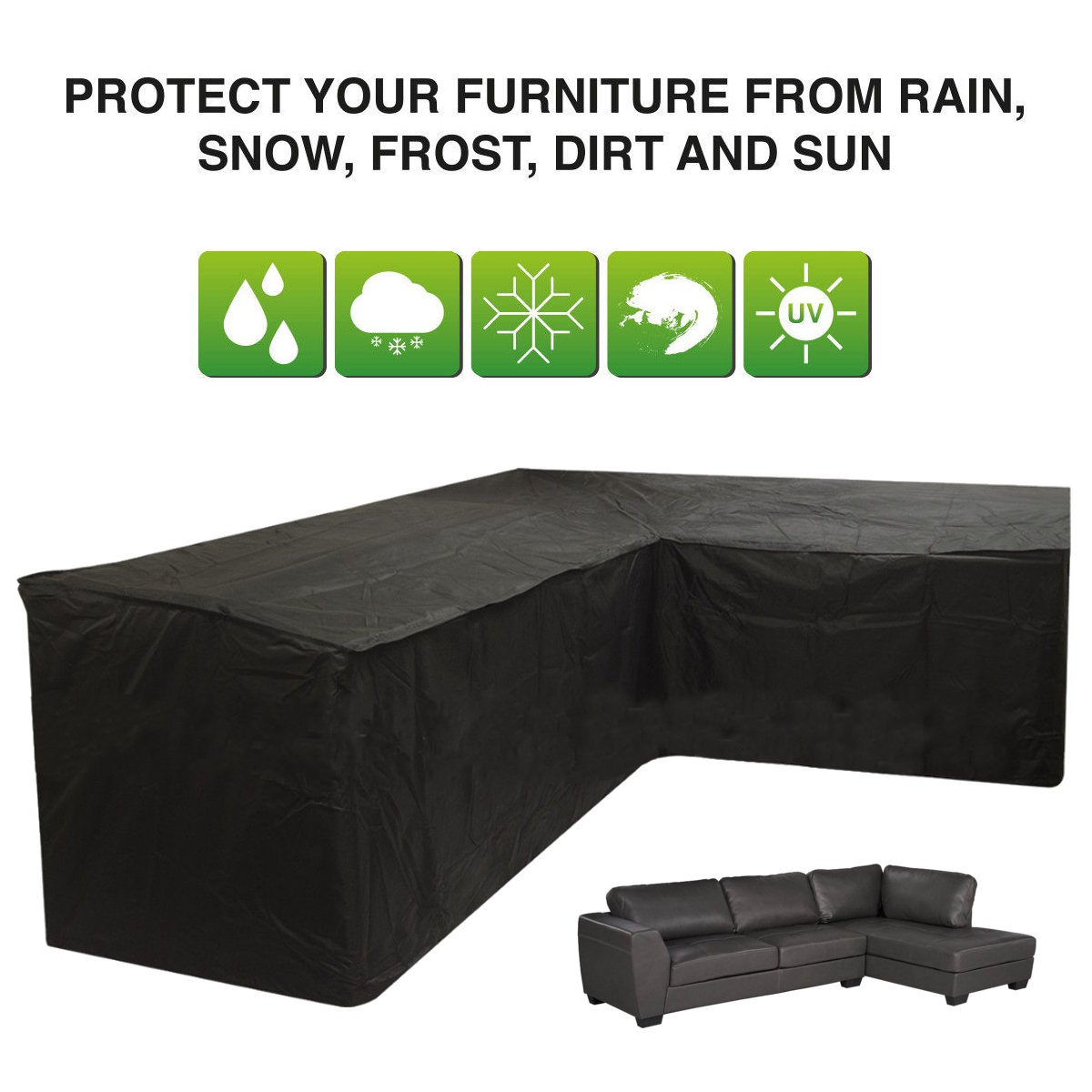 Surprising Us 29 15 56 Off 260 192 76 89Cm L Shape Corner Sofa Couch Cover Waterproof Outdoor Sectional Furniture Rain Protection All Purpose Covers In Theyellowbook Wood Chair Design Ideas Theyellowbookinfo