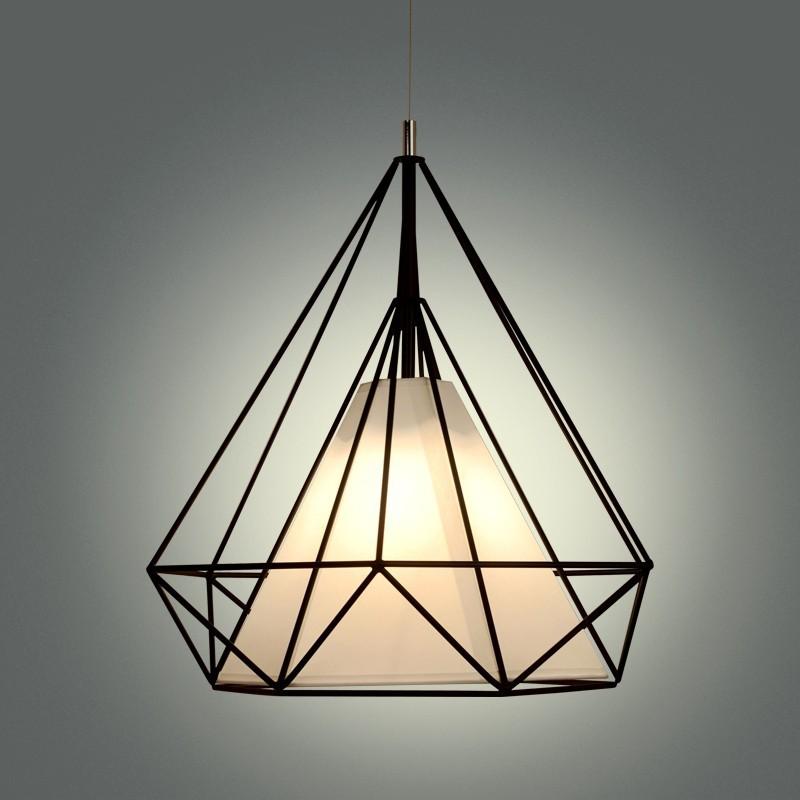 birdcage chandeliers Scandinavian modern minimalist art pyramid iron chandelier creative restaurant lights (8)