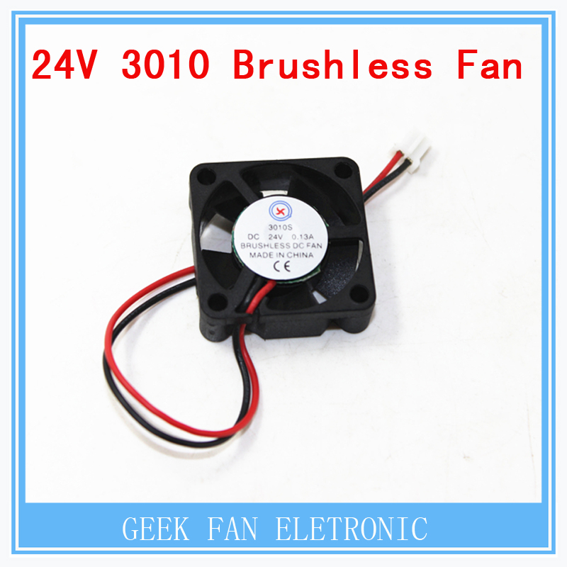 5 lots 3D printer GDT 3010s 3cm 30 x 30 x 10mm 30mm Small DC 24V Brushless Cooling Cooler Fan Free Shipping