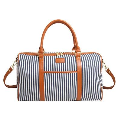 lo último 5d2f0 92eb8 € 36.49 |Las mujeres Bolsos de viaje para mujer bolso bolsas FIN DE SEMANA  bolsa de equipaje bolso de rayas Casual bolso Bolsos de Mujer-in Bolsas de  ...