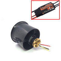 4S 70mm 12 blades fan ducted QX MOTOR EDF unit for RC Drone brushless Motor QF2827 2600KV 80A ESC Quadcopter accessories