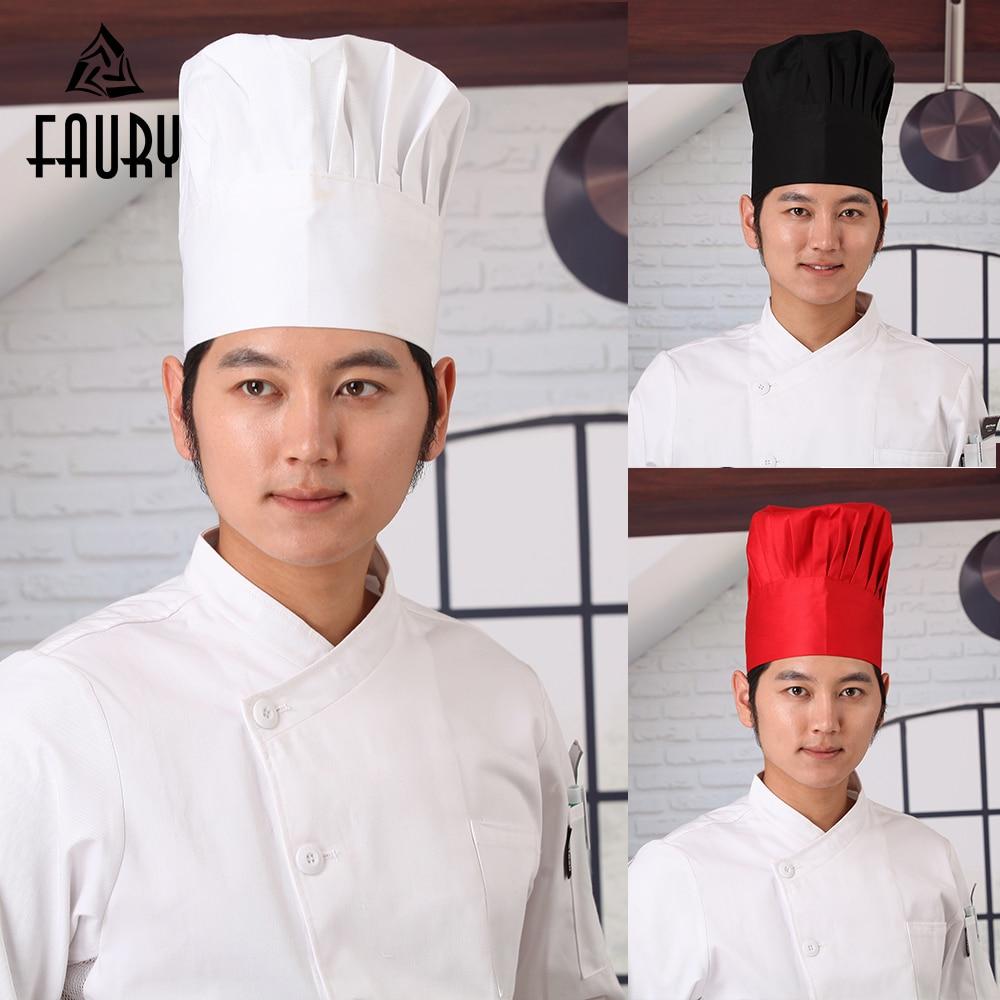 10Pcs/Lot Men Women Kitchen Baker Caps Adjustable Elastic Comfy Cooking Cafe Restaurant Work Wear Chef Hats