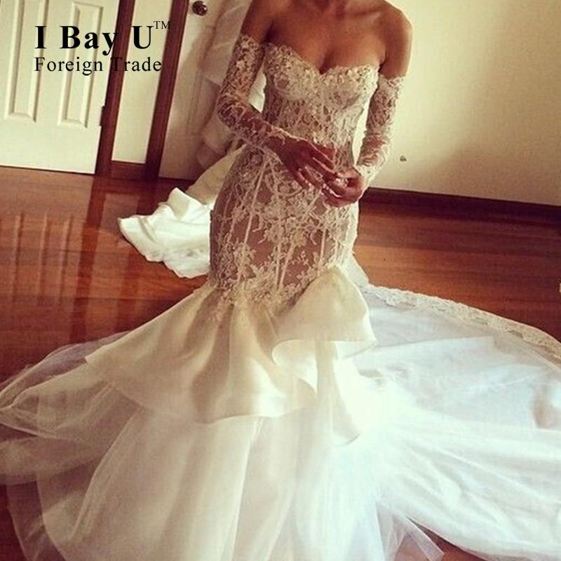 Vintage Wedding Dresses Bay Area: Applique Corset Long Train Wedding Dresses Victorian