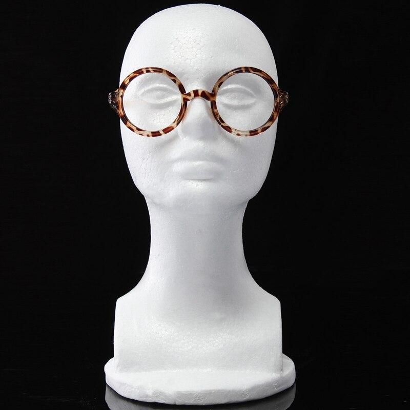 Gematigd Vrouwelijke Piepschuim Model Pruik Hoeden Caps Bril Etalagepop Hoofd Platte Hoofd Hoed Bril Make Up Model Wimper Extensions Winst Klein