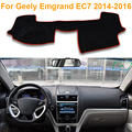 2016 Car Styling Dashboard Protective Mat Shade Cushion Photophobism Pad Interior Carpet For Geely Emgrand EC7 2014-2016