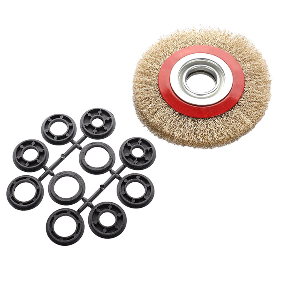 150mm Abrasive Tools Steel Wire Wheel Brush Adaptor Rings For Bench Grinder Clean Polish Tools