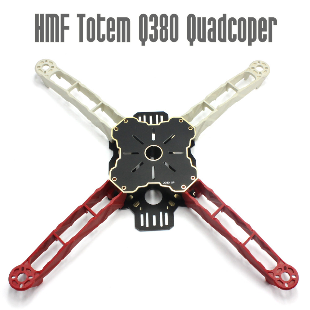 F16269 2015 DIY FPV Across Frame HMF Totem Q380 380mm Multirotor Mini Quadcopter Kit Lightweight High Strength Better than F330 diy fpv mini drone qav210 zmr210 race quadcopter full carbon frame kit naze32 emax 2204ii kv2300 motor bl12a esc run with 4s