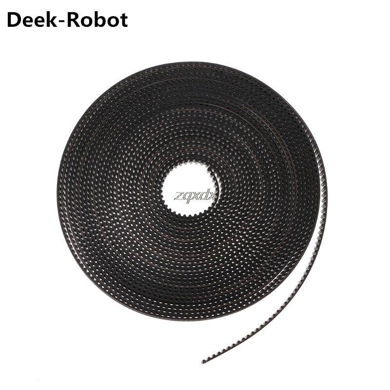 Deek-Robot 2m/5m GT2 Timing Belt 6mm Width Fiber Reinforced Rubber Timing Belt For CNC 3D Printer Reprap Prusa i3 Z09 Drop ship hictop 5 meters gt2 timing belt for reprap 3d printer prusa i3