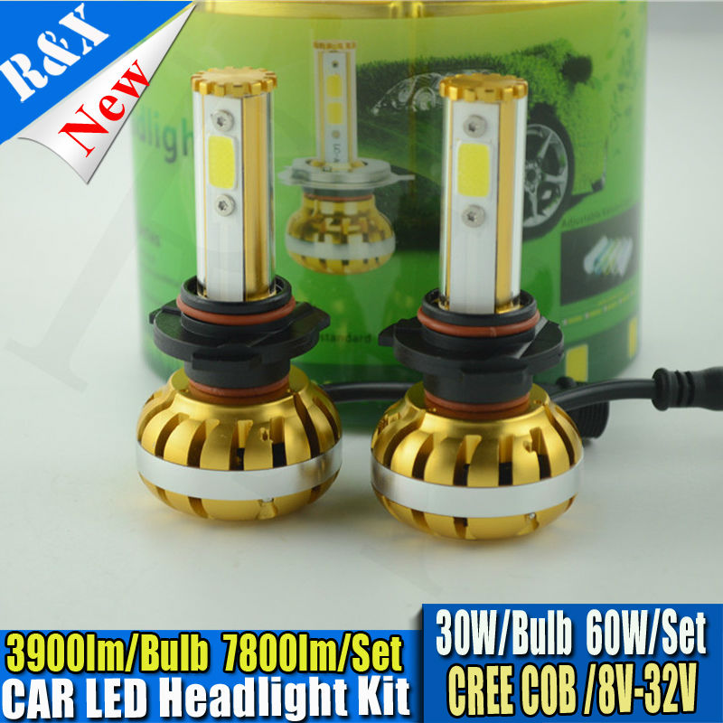 Car 60W 7800LM LED Headlight Canbus Kit For 9006 HB4 low Beam Xenon White Replace HID,9005 HB3 H1 H3 H4 H7 H8 H11 Available