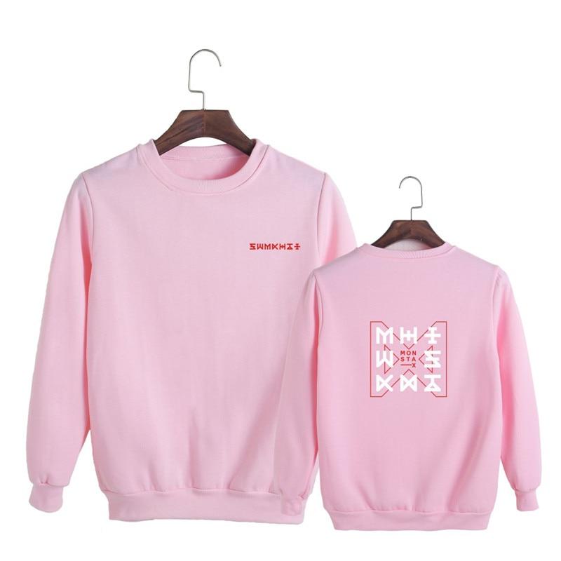 KPOP Korean Fashion Monsta X New Album THE CODE Dramarama O-Neck Cotton Hoodies Pullovers Sweatshirts PT643