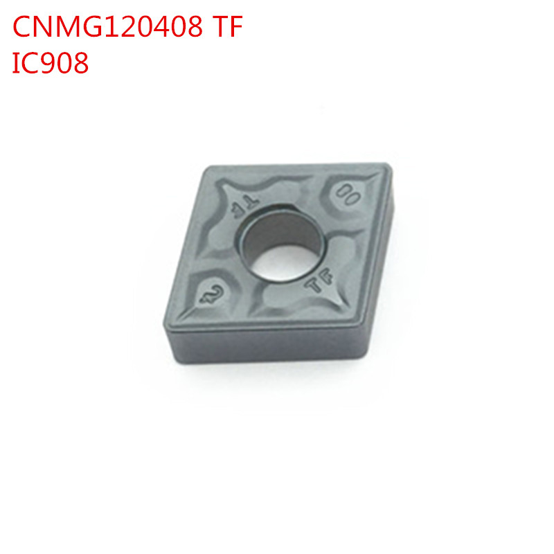 100pcs CNMG432 CNMG120408 TF IC908 External Turning Tools Carbide inserts Lathe cutter Cutting Tool CNC Tools