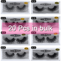 Mangodot Wholesale 20 Pairs SD series Mink Lashes Luxury Cilios Natural long Mink False Eyelashes bulk Thick Extension Eyelash