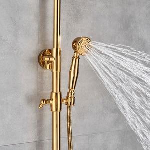 Image 3 - Phòng Tắm Vòi Nước Cao Cấp Vàng Đồng Vòi Rửa Chén Vòi Nước Treo Tường Cầm Tay Tắm Bồn Tắm Vòi Sen Tắm Bộ