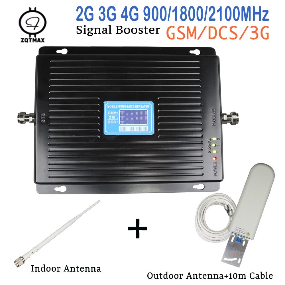 2G 3G 4G 75dB amplificateur de Signal cellulaire GSM 900 DCS LTE 1800mhz WCDMA 2100mhz répéteur de Signal définit amplificateur de Signal avec antenne