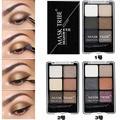 Nueva Moda Profesional de 6 Colores de Sombra de ojos sombra de Ojos Glitter Oro Metálico A Prueba de Agua Mineral Shimmer Powder Eyeshadow Palette