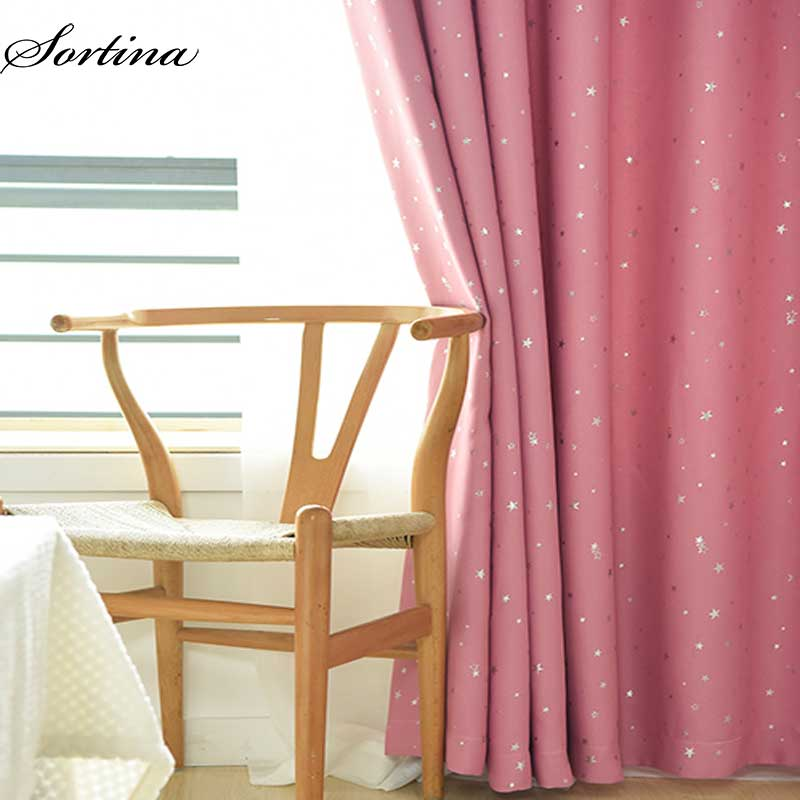 bedroom star curtains blackout kids curtain pink curtain living room polyester drapes ready made window treatment door blinds