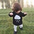 New Kids Meninos Meninas Kint Camisola Nuvens Moda Pattem Crianças Grosso Jumper Capuz da Camisola de Outono Do Bebê Roupas Das Meninas Tops