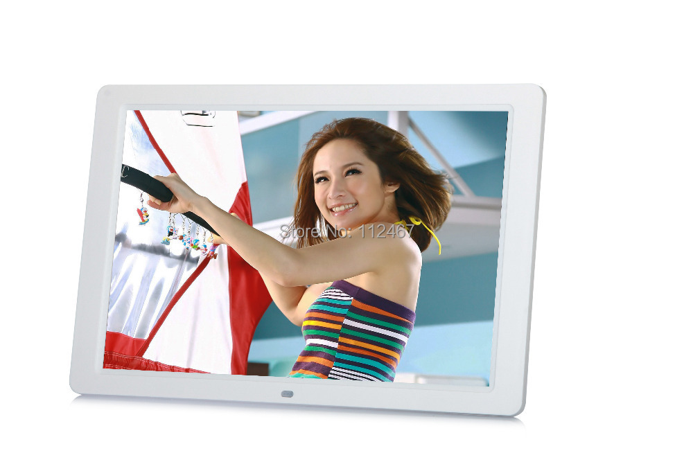 white new 15 Inch Multifunctional HD Digital Photo Frame/Electronic ...