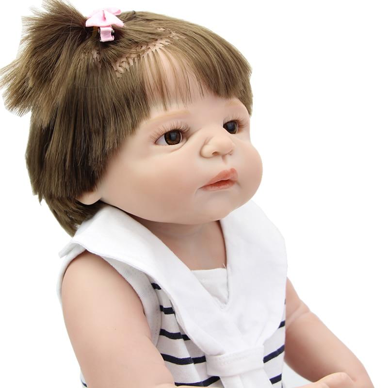 NPK Collection 23 Inch Realistic Silicone Baby Dolls Full Soft Vinyl Reborn Newborn Babies Children Birthday Xmas Gift