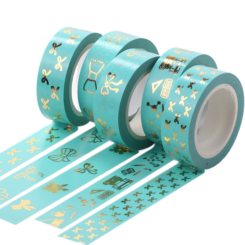 Lovely Bow Foil Flamingo Washi Tape Quality Stationery Diy Scrapbooking Photo Album School Tools Kawaii Scrapbook Paper Stickers