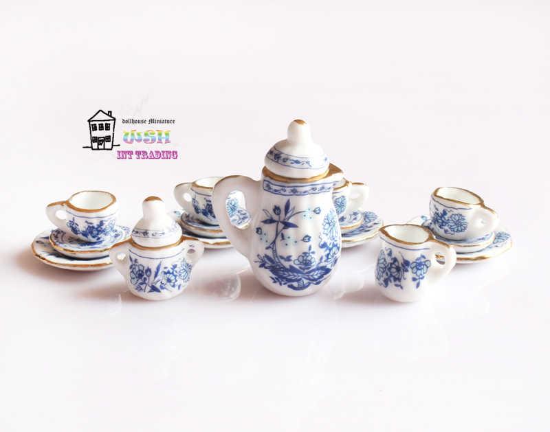 1:12th//1:16th Escala Casa de Muñecas en Miniatura Marrón Pequeña Tetera China Con Tapa