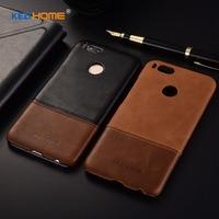 Case For Xiaomi Mi A1 MiA1 KEZiHOME Luxury Hit Color Genuine Leather Hard Back Cover Capa