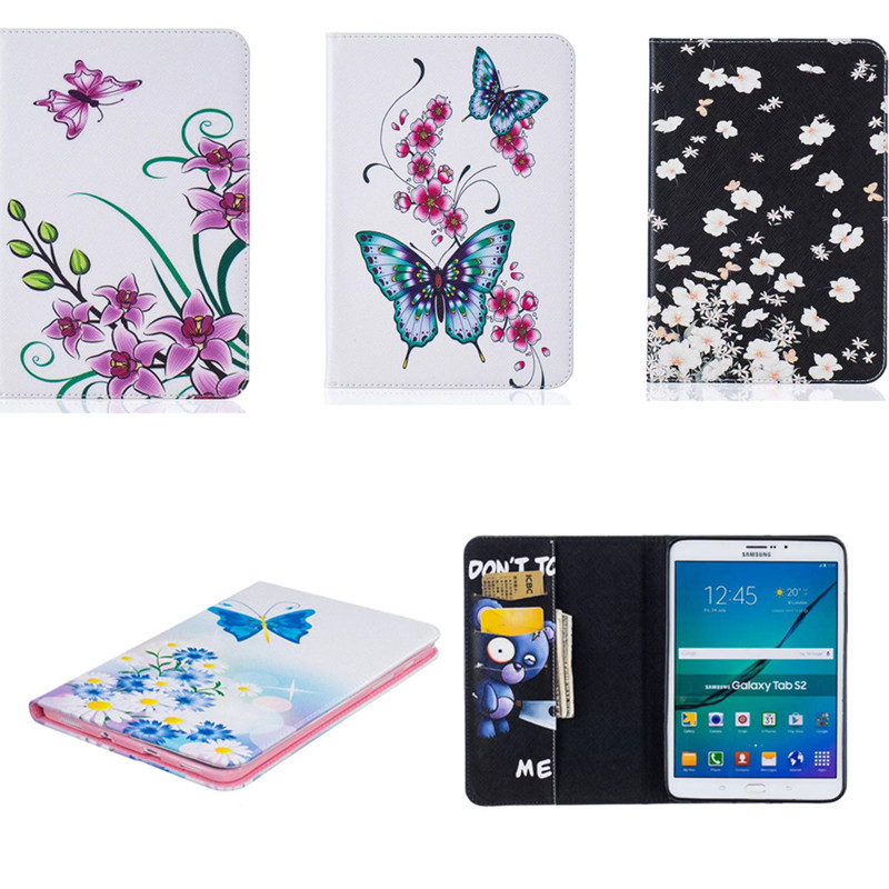BF  Fashion Stand PU Leather Case Cover  For Samsung Galaxy Tab S2 9.7 Tablet T810 T815 T813 T819C Coque Carcasa TPU Back Shell tx soft pink black tpu back case color print tablet cover for samsung galaxy tab s2 9 7 t815c t819c t810 t813 with card slot