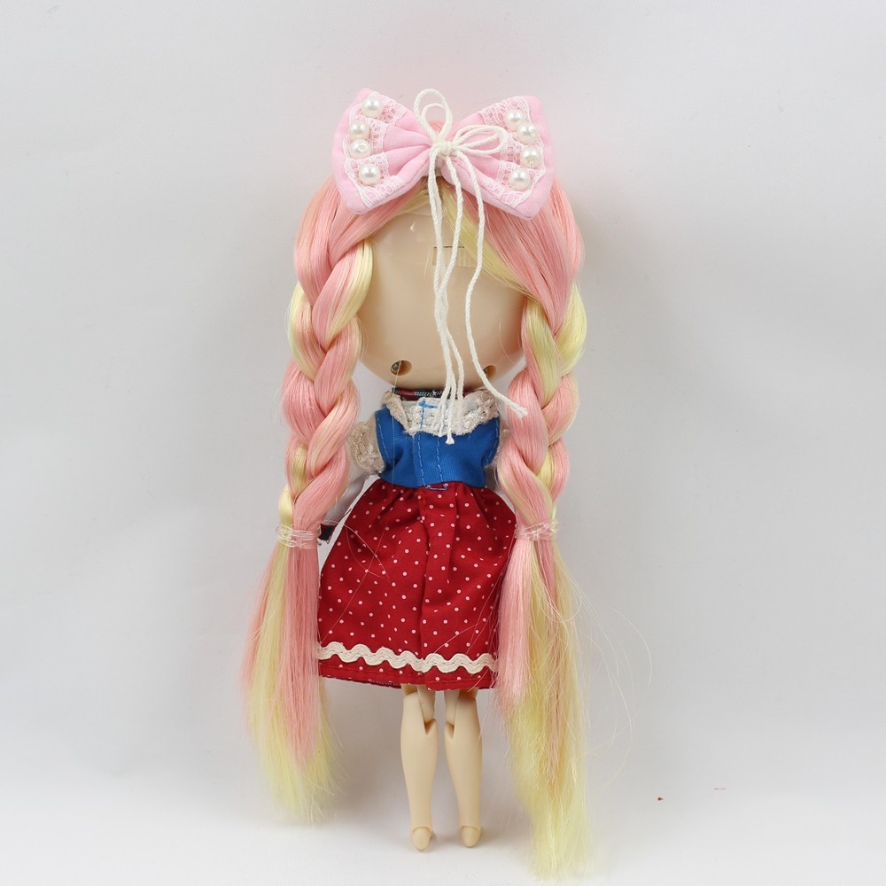 ICY Middie Doll Yellow Pink Hair Jointed Body 20cm 4