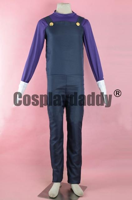 Super Mario Party Island Tour Mario Tennis Waluigi Outfit Game Cosplay  Costume F006 5cf97765b