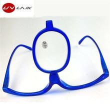 UVLAIK Magnifying Makeup Reading Glasses Folding Eyeglasses Cosmetic Diopter Glasses Presbyopic Eye Makeup Glasses