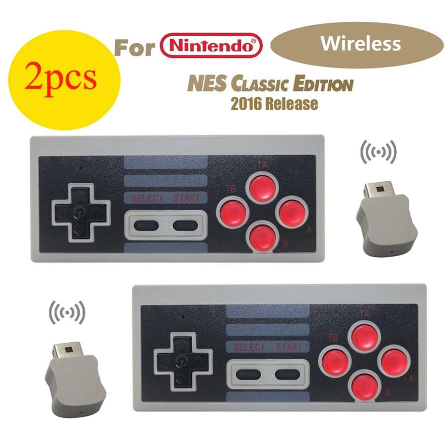 2 шт. беспроводной контроллер геймпад для Nintendo Mini Classic Edition NES консоль питание от батарей AAA