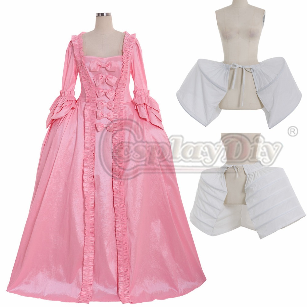 Cosplaydiy Custom Made Pink Rococo Marie Antoinette Gown Adult Women Fancy Belle Rococo Dress Any Size L320