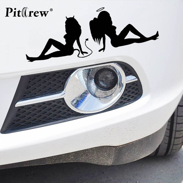 1pc 207cm 2018 new sexy girls car stickers angels and demons car styling fashion