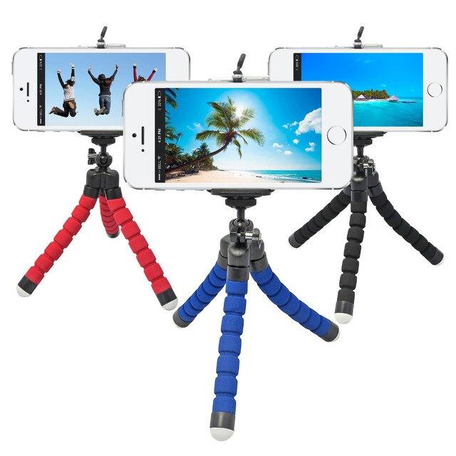 Selfie tripé Mini Tripé para Telefone Tripe Statief Flexível Tripé para Câmera de Celular Xiaomi Yi Tripodes Camaras Parágrafo