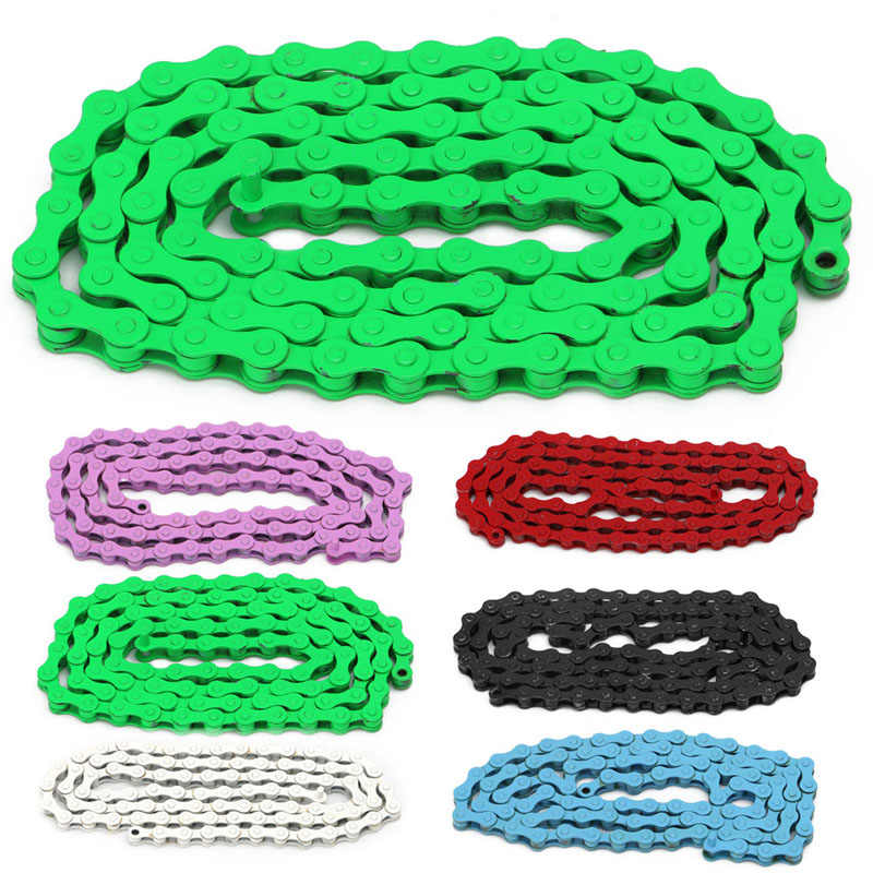 "1/2 ""X 1/8"" Bicycle Chain Multicolor Single Speed Steel Bicycle 96 Links Chain Mountain Bike"