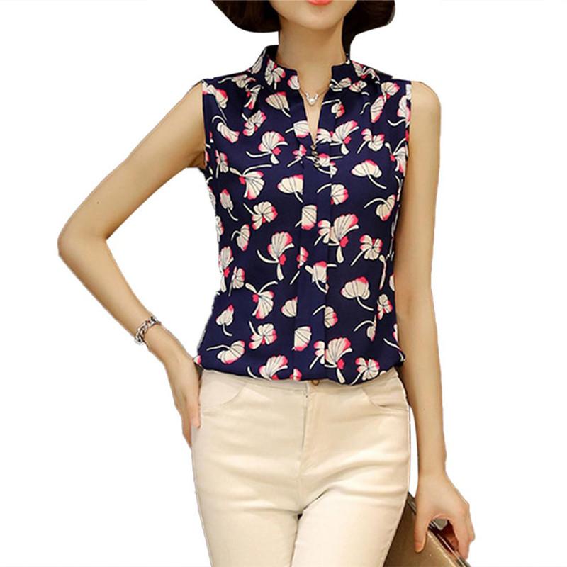 HTB1lDbiQVXXXXcPXXXXq6xXFXXXt - Sleeveless Chiffon Office Shirts Blusa Womens 3XL Plus Size Tunic