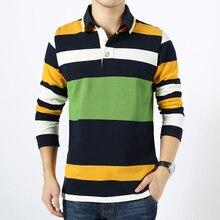 2016 Autumn Long-sleeve Polo Shirt Men Fashion Stripe Polo Men Tommis Turn-down Collar Full Sleeve Polo Shirts Men Free Shipping