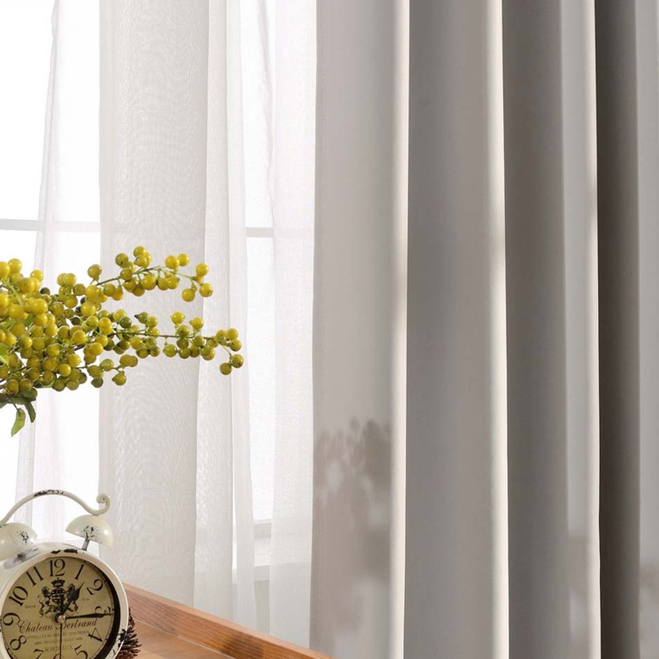farbe vorhang wohnzimmer : Solide Farben Blackout Vorh Nge F R Das Schlafzimmer Grau Farbe