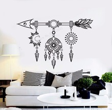 Art  Wall Sticker Arrow Ethnic Decor Dreamcatcher Decoration Vinyl Removeable Poster Fashion Modern Mural LY171