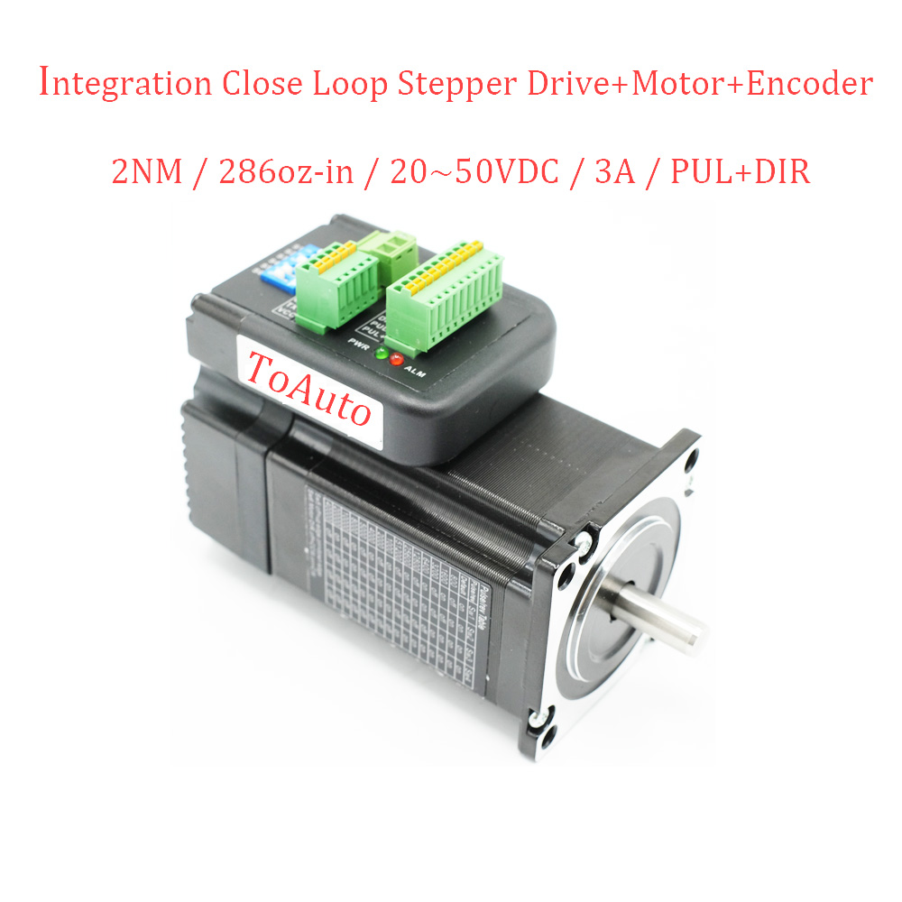 Nema23 2Nm Integrated Closed Loop Stepper Drive+ Motor+ Encoder DC36V High Torque Low Heat High Stability High ConsistencyNema23 2Nm Integrated Closed Loop Stepper Drive+ Motor+ Encoder DC36V High Torque Low Heat High Stability High Consistency