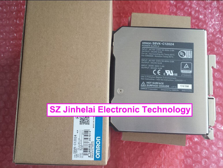 New and original S8VK-C12024 OMRON Power module  120W INPUT:100-240VAC OUTPUT:24VDC 5.0A new and original e3x da11 s omron optical fiber amplifier photoelectric switch 12 24vdc
